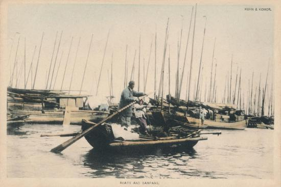 'Boats and Sampans', c1910-Unknown-Giclee Print