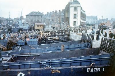 Boats and Ships Waiting in a Port at Weymouth, Southern England, June 1944--Photographic Print