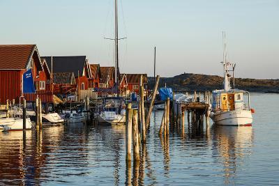 Boats and Timber Houses, Grebbestad, Bohuslan Region, West Coast, Sweden, Scandinavia, Europe-Yadid Levy-Photographic Print