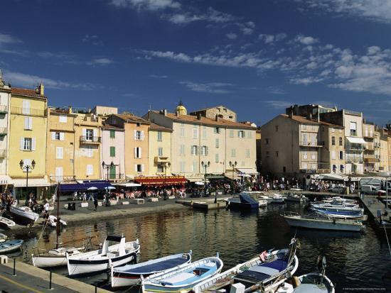 Boats and Waterfront, St. Tropez, Var, Cote d'Azur, Provence, French Riviera, France-Sergio Pitamitz-Photographic Print