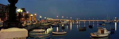 Boats at a Harbor, Bari, Itria Valley, Puglia, Italy--Photographic Print