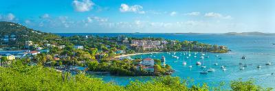 Boats at a Harbor, Cruz Bay, St. John, Us Virgin Islands--Photographic Print