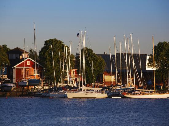 Boats at a Harbor, Parnu Yacht Club, Parnu, Estonia--Photographic Print