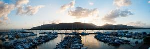 Boats at a Marina at Dusk, Shangri-La Hotel, Cairns, Queensland, Australia