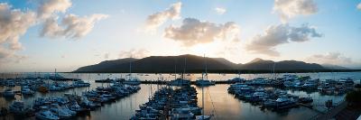 Boats at a Marina at Dusk, Shangri-La Hotel, Cairns, Queensland, Australia--Photographic Print