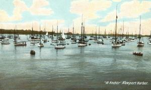 Boats at Anchor, Newport Harbor, Rhode Island