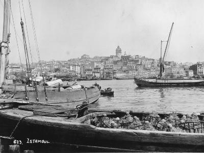 Boats at Istanbul--Photographic Print