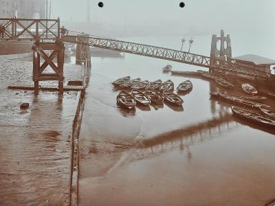 Boats at Limehouse Pier, Poplar, London, 1908--Photographic Print