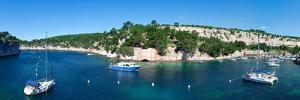 Boats at marina, Calanque de Port-Miou, Cassis, Bouches-Du-Rhone, Provence-Alpes-Cote D'Azur, Fr...