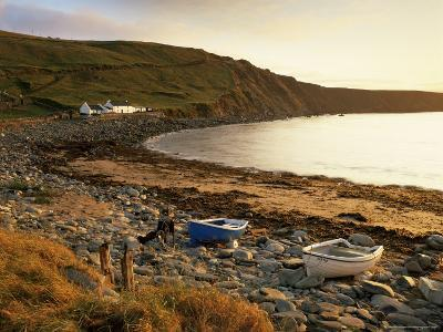 Boats at Nor Wick on the Northeast Tip of the Island, Scotland, United Kingdom-Patrick Dieudonne-Photographic Print