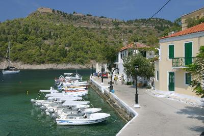 Boats at the Quayside, Assos, Kefalonia, Greece-Peter Thompson-Photographic Print