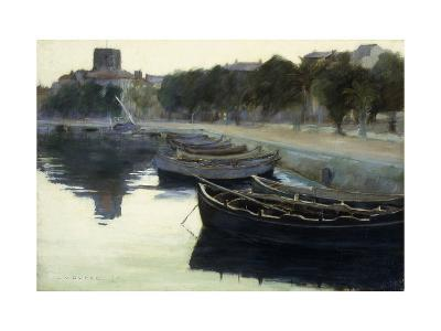 Boats at their Moorings-Victor		 Dupre-Giclee Print