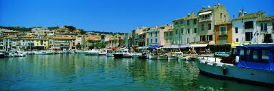 Boats Docked at a Harbor, Cassis, Provence-Alpes-Cote D'Azur, France--Photographic Print