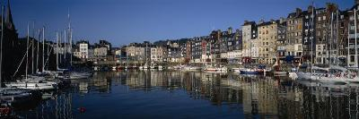 Boats Docked at a Harbor, Honfleur, Normandy, France--Photographic Print