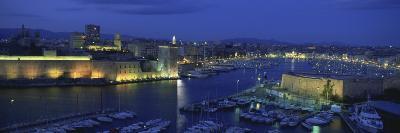 Boats Docked at a Port, Old Port, Marseille, Bouches-Du-Rhone, Provence-Alpes-Cote Daze, France--Photographic Print