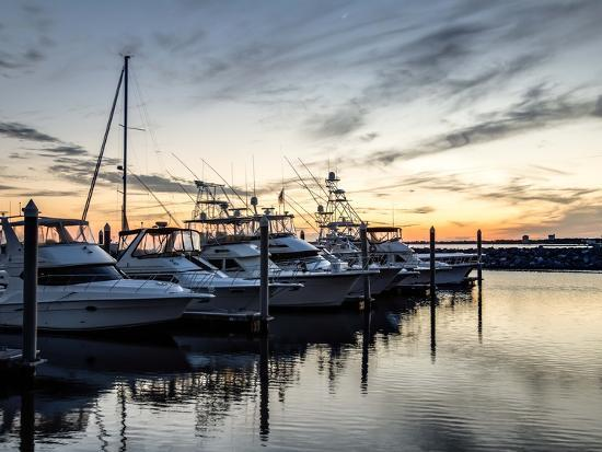 Boats Docked at the Yacht Club-the-brown-market-Photographic Print