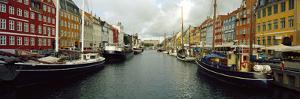 Boats in a Canal, Nyhavn, Copenhagen, Denmark