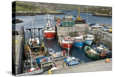 Boats In a Harbour-Adrian Bicker-Stretched Canvas Print