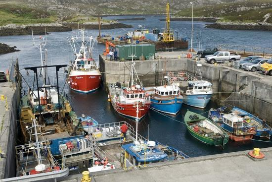 Boats In a Harbour-Adrian Bicker-Photographic Print