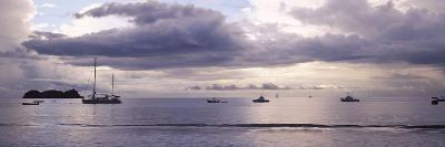 Boats in an Ocean, Playa Hermosa, Costa Rica--Photographic Print