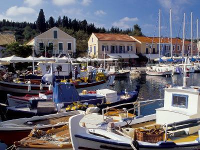 Boats in Fiscardo Harbour, Cephalonia (Kefallinia), Ionian Islands, Greece-Jonathan Hodson-Photographic Print