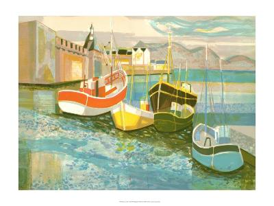 Boats in Harbor II-George Lambert-Art Print