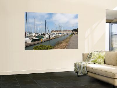 Boats in Marina at Fort Mason Center-Sabrina Dalbesio-Wall Mural