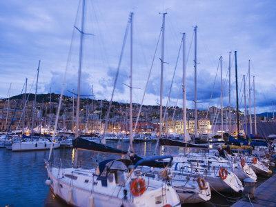 Boats in Porto Vecchio Marina, Genoa (Genova), Liguria, Italy, Europe-Christian Kober-Photographic Print