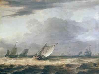 Boats in Stong Wind-Allart van Everdingen-Giclee Print