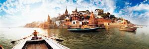 Boats in the Ganges River, Varanasi, Uttar Pradesh, India