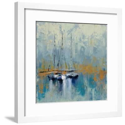 Boats in the Harbor III-Silvia Vassileva-Framed Art Print