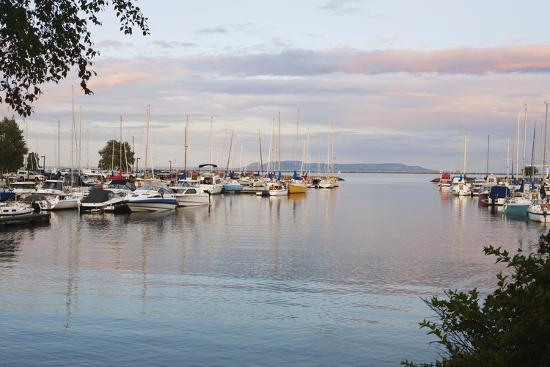 Boats in the Harbour at Sunset; Thunder Bay, Ontario, Canada-Design Pics Inc-Photographic Print