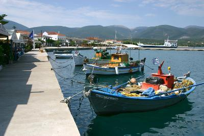 Boats in the Harbour of Sami, Kefalonia, Greece-Peter Thompson-Photographic Print