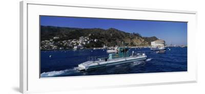 Boats in the Ocean, Santa Catalina Island, California, USA--Framed Photographic Print