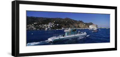 Boats in the Ocean, Santa Catalina Island, California, USA--Framed Photographic Print