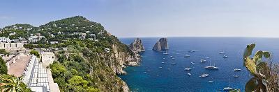 Boats in the Sea, Faraglioni, Capri, Naples, Campania, Italy--Photographic Print