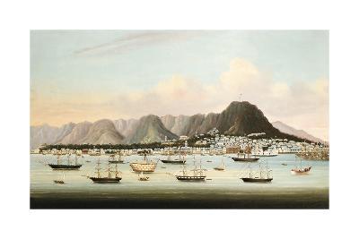 Boats in Victoria Harbour-Oriental School-Premium Giclee Print