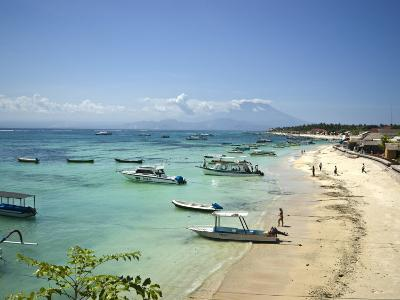Boats Moored Along A Tropical Island Beach Beside A Fishing Village Photographic Print By Jason Edwards Art Com