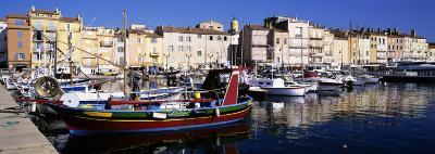 Boats Moored at a Dock, St. Tropez, Provence, France--Photographic Print