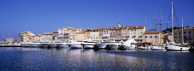 Boats Moored at a Harbor, St. Tropez, Provence, France--Photographic Print