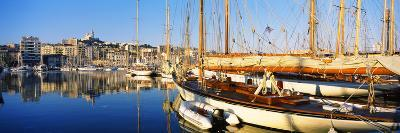 Boats Moored at a Harbor, Vieux Port, Marseille, Provence-Alpes-Cote D'Azur, France--Photographic Print
