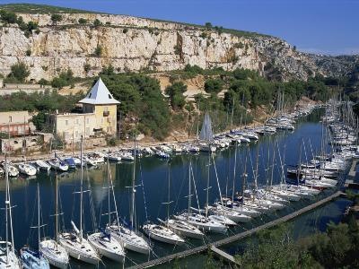 Boats Moored in Harbour, Port Miou, Calanques De Cassis, Bouches Du Rhone, France-Morandi Bruno-Photographic Print