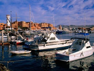Boats Moored in Marina, Cabo San Lucas, Baja California Sur, Mexico-John Elk III-Photographic Print