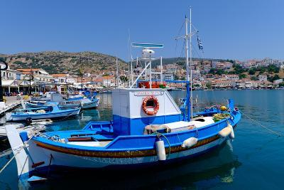 Boats Moored in Pythagorio Port, Samos Island, North Aegean Islands, Greek Islands, Greece, Europe-Carlo Morucchio-Photographic Print