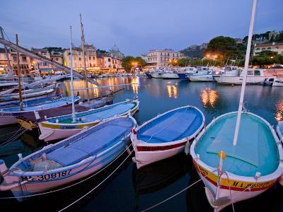 Boats Moored in the Harbor of Cassis-Michael Melford-Photographic Print