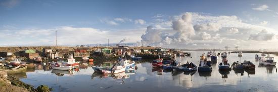 Boats Moored on the Water Along the Shoreline; Saltburn, Teesside, England-Design Pics Inc-Photographic Print