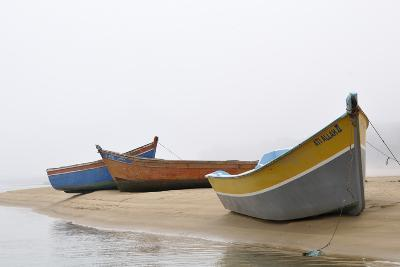 Boats on Beach, Moulay Bousselham, Kenitra Province, Morocco-Jean-Christophe Riou-Photographic Print