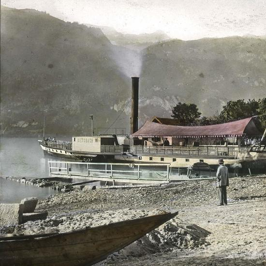 Boats on Lake Brienz (Switzerland), Circa 1865-Leon, Levy et Fils-Photographic Print