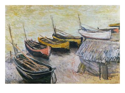 Boats on the Beach, 1883-Claude Monet-Giclee Print