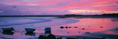 Boats on the Beach at Sunrise, Pors Carn, Finistere, Brittany, France--Photographic Print